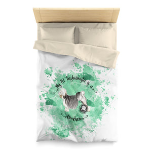 Lowchen Pet Fashionista Duvet Cover