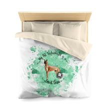 Load image into Gallery viewer, Great Dane Pet Fashionista Duvet Cover