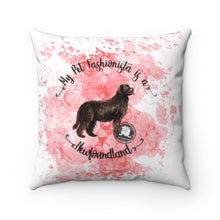 Load image into Gallery viewer, Newfoundland Pet Fashionista Square Pillow