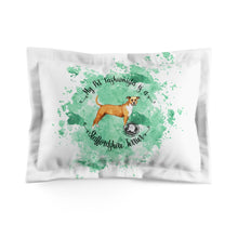Load image into Gallery viewer, Staffordshire Terrier Pet Fashionista Pillow Sham
