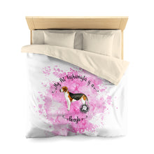 Load image into Gallery viewer, Beagle Pet Fashionista Duvet Cover