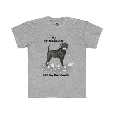 My Affenpinscher Ate My Homework Kids Regular Fit Tee