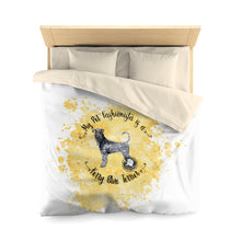 Load image into Gallery viewer, Kerry Blue Terrier Pet Fashionista Duvet Cover