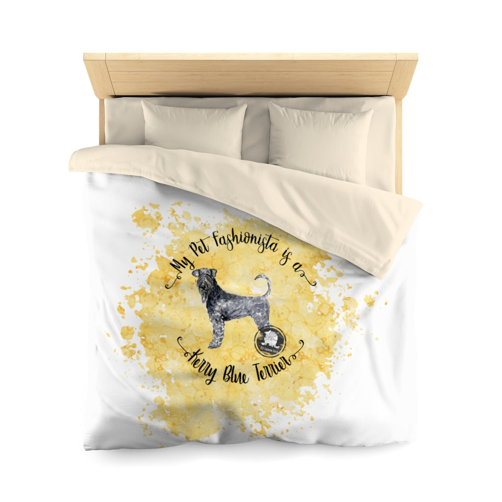Kerry Blue Terrier Pet Fashionista Duvet Cover