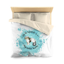 Load image into Gallery viewer, Polish Lowland Sheepdog Pet Fashionista Duvet Cover