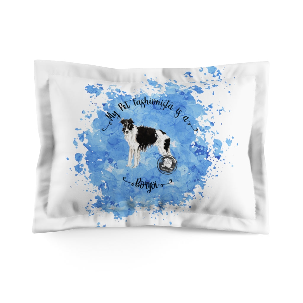 Borzoi Pet Fashionista Pillow Sham