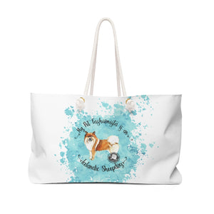 Icelandic Sheep Dog Pet Fashionista Weekender Bag