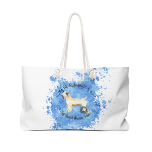 Soft Coated Wheaten Terrier Pet Fashionista Weekender Bag