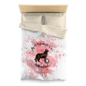 Newfoundland Pet Fashionista Duvet Cover