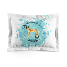 Load image into Gallery viewer, Bull Mastiff Pet Fashionista Pillow Sham