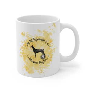 Doberman Pinscher Pet Fashionista Mug