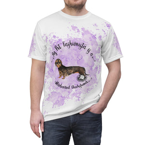 Dachshund (Wire haired) Pet Fashionista All Over Print Shirt