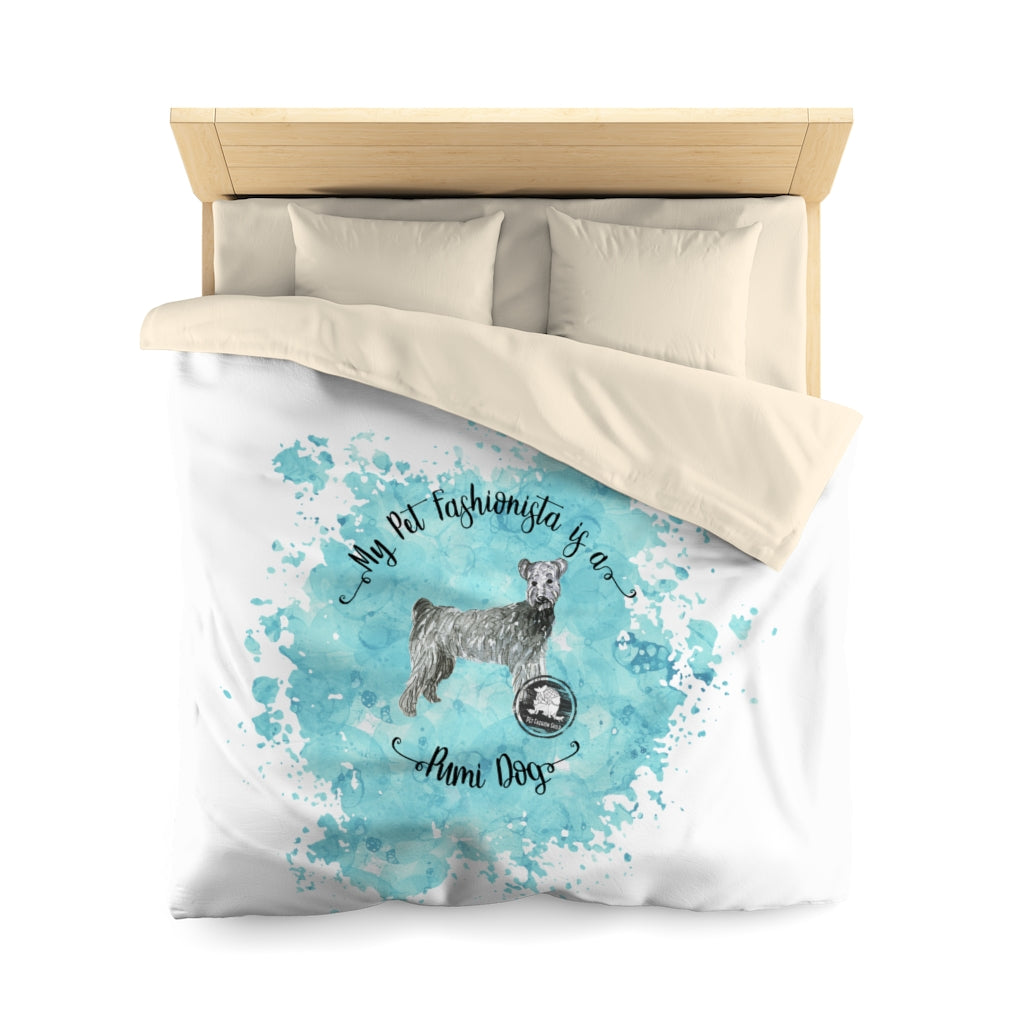 Pumi Dog Pet Fashionista Duvet Cover