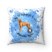 Load image into Gallery viewer, Wirehaired Vizsla Pet Fashionista Square Pillow