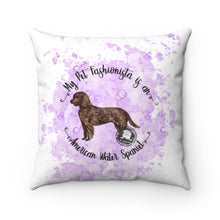 Load image into Gallery viewer, American Water Spaniel Pet Fashionista Square Pillow