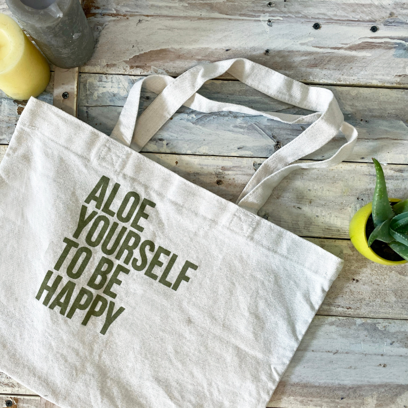 Aloe Yourself To Be Happy Tote Bag