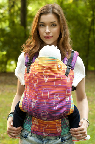 (Standard Size) Full Wrap Conversion Tula Baby Carrier - Amelia's Sundae Sweet - Baby Tula