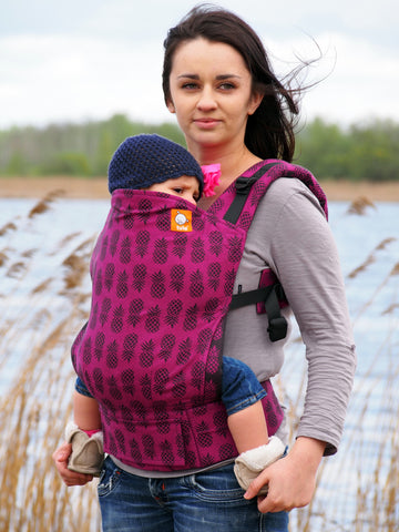 (Standard Size) Full Wrap Conversion Tula Baby Carrier - Tula Ananas Tart 1 - Baby Tula