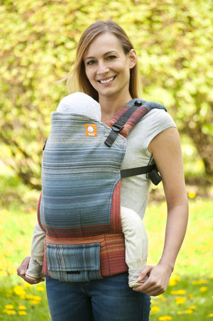 Half Standard WC Carrier - Evening Flame Gray Weft - Baby Tula