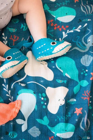 Aquarium - Tula Baby Blanket Set