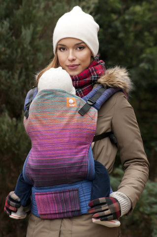 (1/2 Standard Size) Wrap Conversion Tula Baby Carrier - Arl0 Lyra Mauve F0nce Weft - Baby Tula