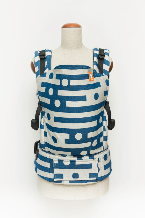 Half Toddler Wrap Conversion Carrier - Aroha Miramar - Baby Tula