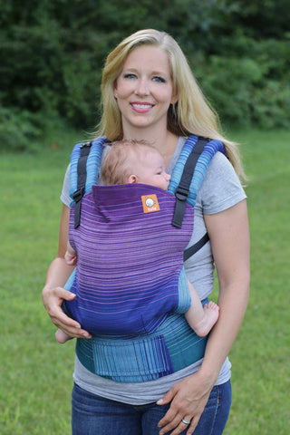 (Standard Size) Full Wrap Conversion Tula Baby Carrier - Angelique Azul Capitan 2 - Baby Tula