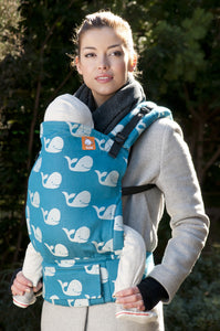 Full Toddler WC Carrier - Beluga Ocean - Baby Tula
