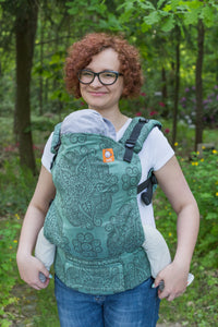 Half Toddler Wrap Conversion Carrier - Cassiope Castalia Mint - Baby Tula