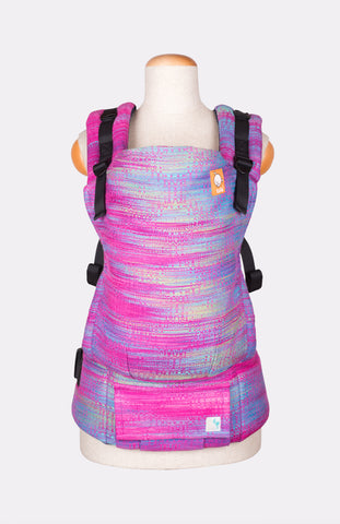 Half Standard Wrap Conversion Carrier - Chici Beanz Wonka's World Fuchsia Weft - Baby Tula