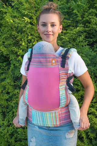 Full Coast Standard Wrap Conversion Carrier - Candy Crema de Nube Weft - Baby Tula