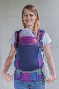 Full Coast Toddler Wrap Conversion Carrier - Geneva Purpura Romana Weft 2 - Baby Tula