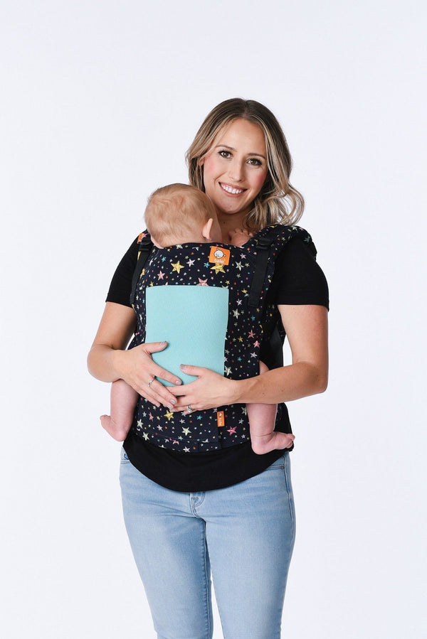 7ff8a128972 Ergonomic Tula Toddler Carrier - Coast Rainbow Stars Mesh – Baby Tula