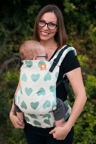 (Standard Size) Full Wrap Conversion Tula Baby Carrier - Creme de Menthe 2 - Baby Tula