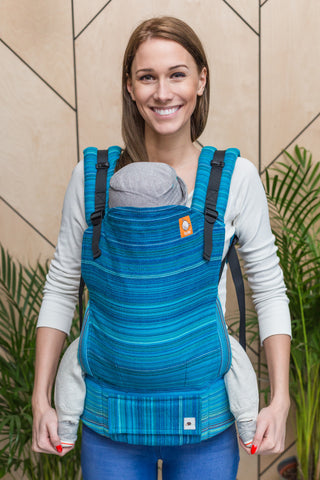 Half Toddler Wrap Conversion Carrier - Last Centurion Peacock Weft - Baby Tula