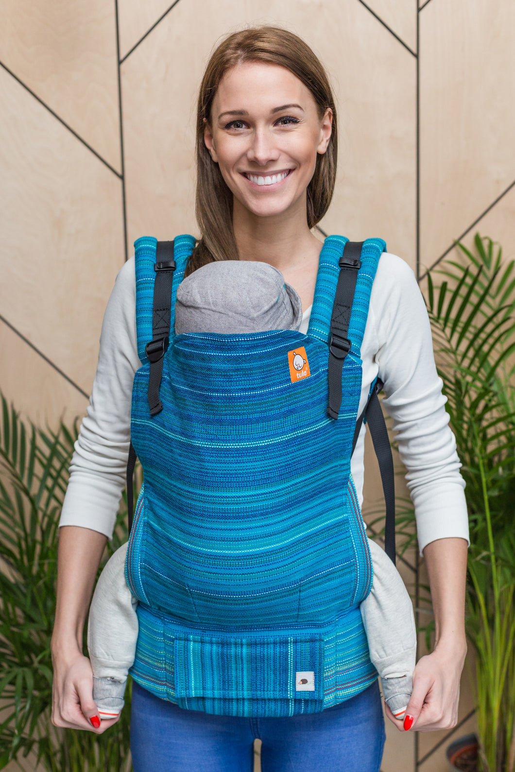 Half Standard Wrap Conversion Carrier - Last Centurion Peacock Weft - Baby Tula