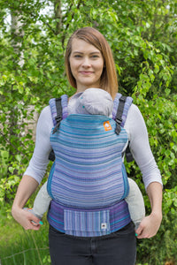 Half Standard Wrap Conversion Carrier -  Le Reve d'Athena Periwinkle Weft - Baby Tula