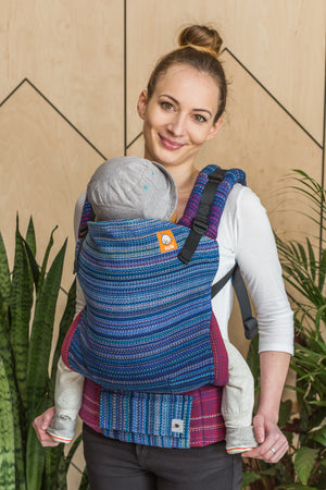Half Standard Wrap Conversion Carrier -  Mom Brain Royal Weft - Baby Tula