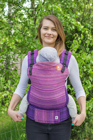Half Standard Wrap Conversion Carrier -  Nightfall Mauve Weft - Baby Tula