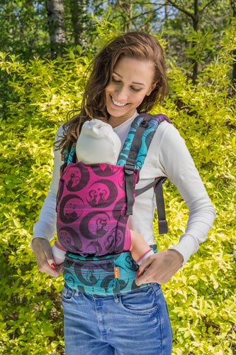 Baby Tula Half Free-to-Grow Wrap Conversion - Luna Teide - Baby Tula