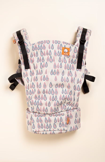 Woven Wings French Knot Droplets - Rose 1 - Tula Signature Baby Carrier
