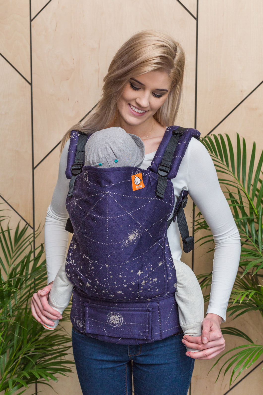 Half Standard Wrap Conversion Carrier - 925 Twilight Starmap - Baby Tula