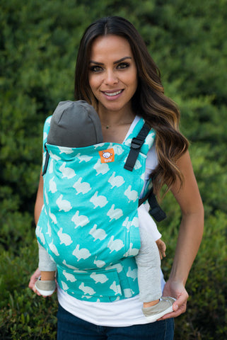 (Standard Size) Full Wrap Conversion Tula Baby Carrier - Tula Fluff Isle - Baby Tula