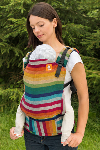 Half Toddler WC Carrier - Alegria Cuervo Weft - Baby Tula