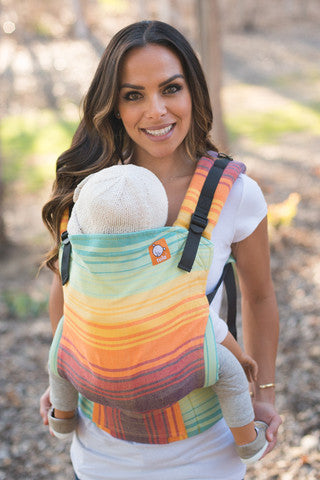 (Toddler Size) Half Wrap Conversion Tula - Girasol Bay Bonbon de Limon - Baby Tula