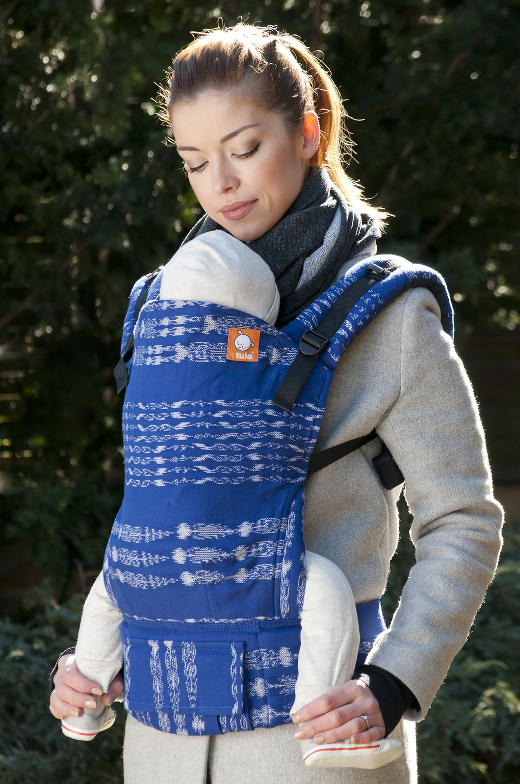 Half Toddler WC Carrier - Blue Ikat - Baby Tula