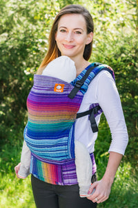Half Standard WC Carrier - Dessa's Dream Azul Capitan Weft - Baby Tula