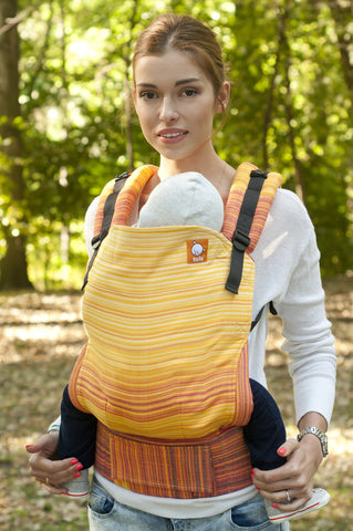 (Standard Size) Half Wrap Conversion Tula Baby Carrier - Firework Lemon - Baby Tula