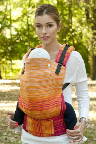 (Standard Size) Half Wrap Conversion Tula Baby Carrier - Girasol Firework Red - Baby Tula
