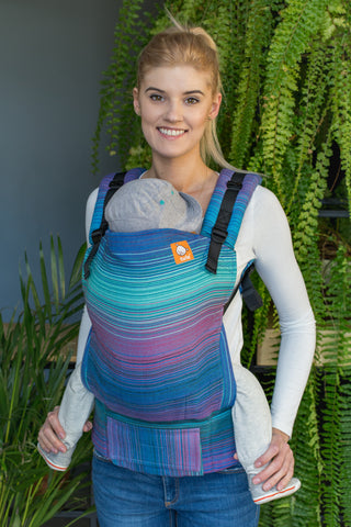 Full Toddler Wrap Conversion Carrier - Geneva Azul Pacifico - Baby Tula